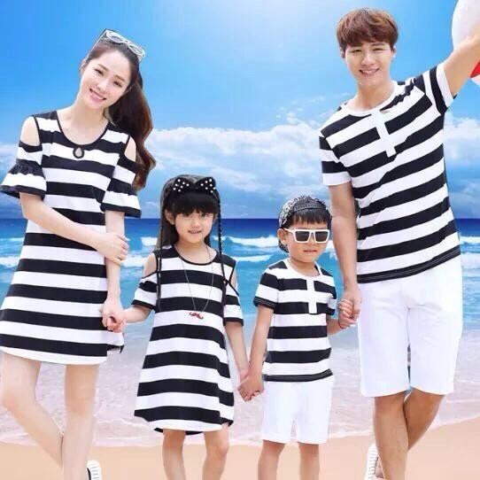Áo thun gia đình , quần gia đình , váy mẹ và bé hàng có sẵn