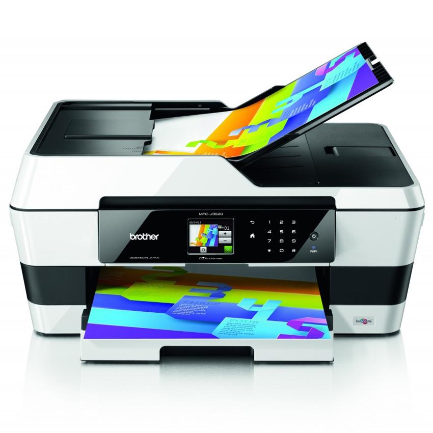 Máy in phun màu đa chức năng Brother MFC-J3520 (in, scan, copy, fax), In WIFI, Khổ A3, In mạng, Khay